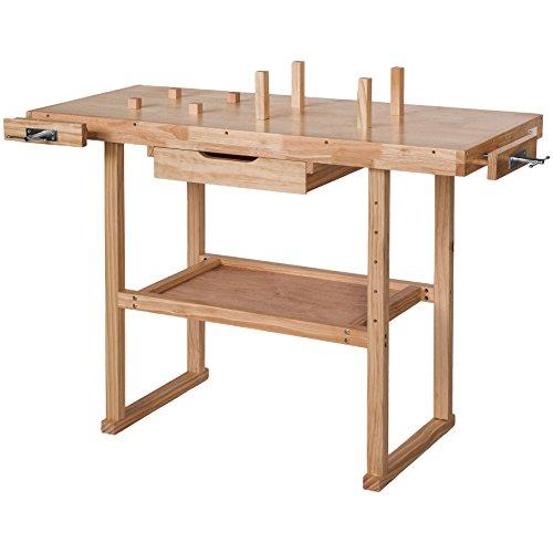 TecTake Banco de trabajo de madera con...