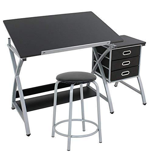 Display4top Mesa de Dibujo con Taburete para...