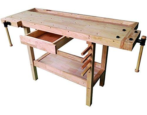 Vigor 4894510 - Banco de trabajo de madera,...
