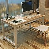 Mesa de ordenador, escritorio con ranuras de...