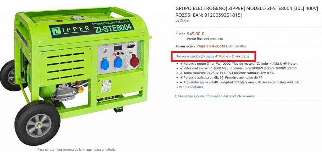 comprar generador electrico de segunda mano